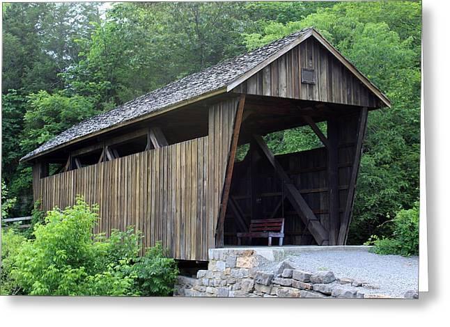 Covered Bridge Greeting Cards - Indian Creek Covered Bridge Greeting Card by Beverly Canterbury