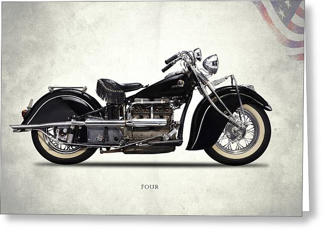 Indian Four 1938 Greeting Card by Mark Rogan