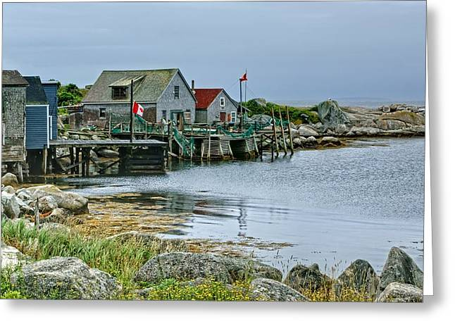 Lobster Shack Greeting Cards - Indian Harbour - Fishing Village - Nova Scotia Greeting Card by Nikolyn McDonald