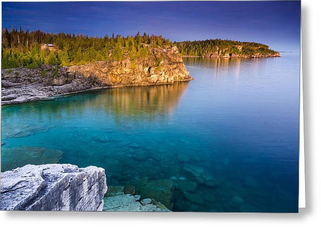 Sony Greeting Cards - Indian Head Cove Sunrise  Greeting Card by Cale Best