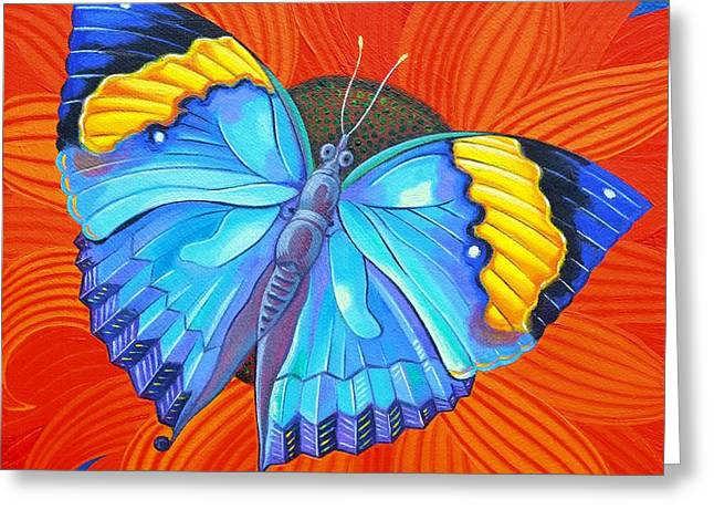 Butterflies Paintings Greeting Cards - Indian Leaf Butterfly Greeting Card by Jane Tattersfield