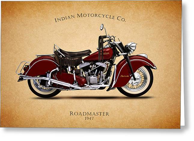 Motorcycles Greeting Cards - Indian Roadmaster 1947 Greeting Card by Mark Rogan