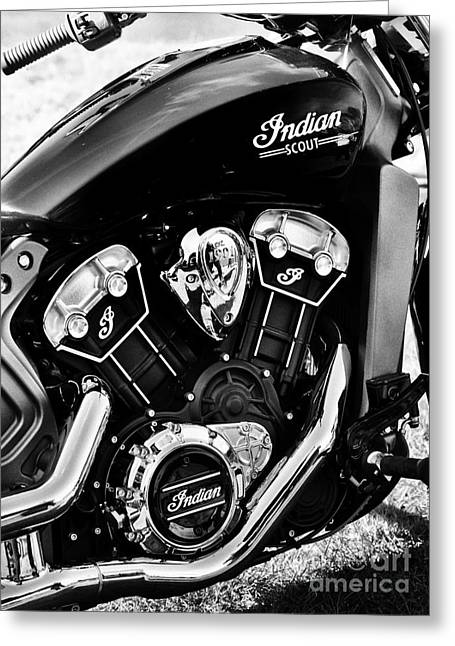 Motorcycle Engines Greeting Cards - Indian Scout 2015 Greeting Card by Tim Gainey
