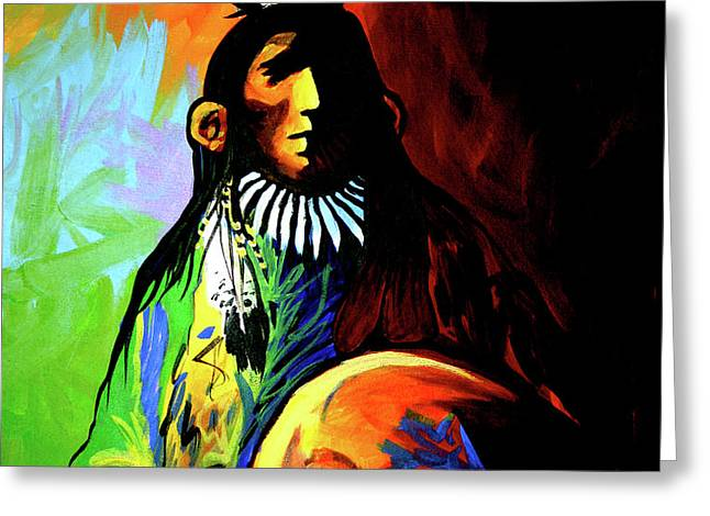 Indian Shadows Greeting Card by Lance Headlee