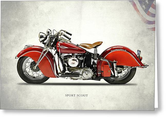 Indian Sport Scout 1940 Greeting Card by Mark Rogan