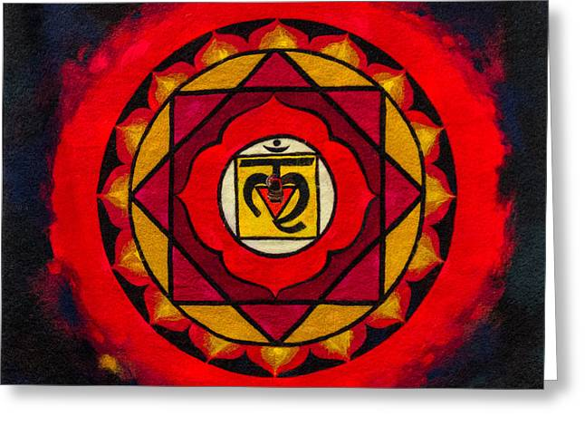 Mystic Art Greeting Cards - Indian Style Ohm Image Greeting Card by John Williams