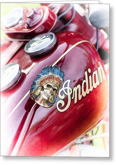 Digital.oil Greeting Cards - Indian Suicide Shifter  Greeting Card by Tim Gainey