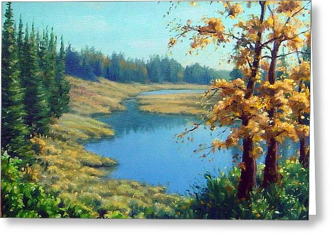 Plain Air Artist Greeting Cards - Indian Summer Day Greeting Card by Rick Hansen