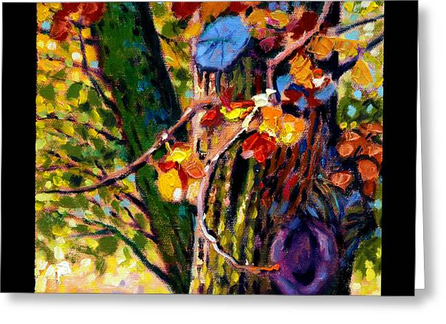 Pear Tree Paintings Greeting Cards - Indian Summer detail eight Greeting Card by John Lautermilch