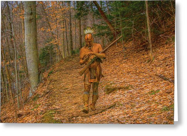 Reenactor Greeting Cards - Indian Summer  Greeting Card by Randy Steele