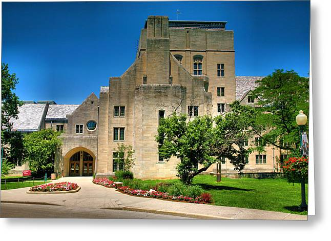 Indiana University Greeting Cards - Indiana Memorial Union I Greeting Card by Steven Ainsworth