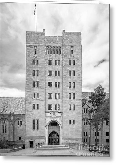 Gi Photographs Greeting Cards - Indiana University Memorial Union Greeting Card by University Icons