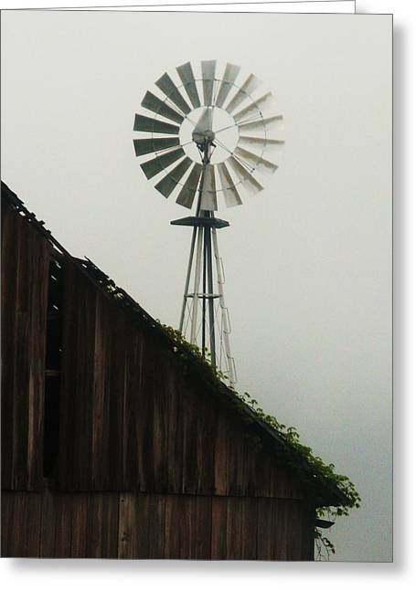 Rural Indiana Photographs Greeting Cards - Indiana Windmill Greeting Card by Joyce Kimble Smith