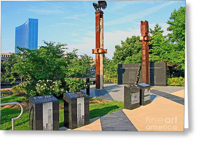 Terrorist Greeting Cards - Indianapolis 9/11 Memorial Greeting Card by Steve  Gass
