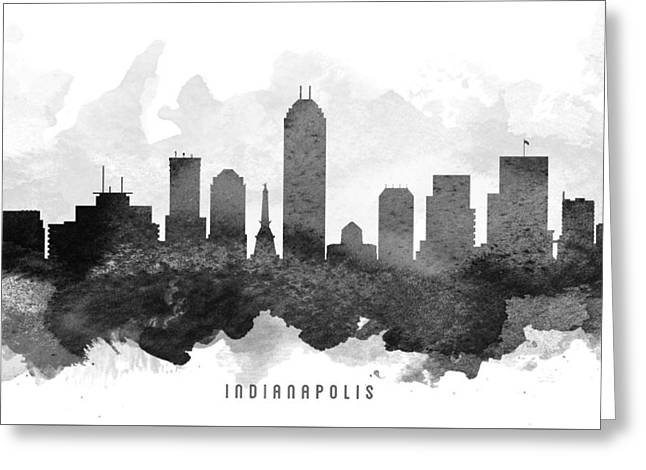 High Rise Greeting Cards - Indianapolis Cityscape 11 Greeting Card by Aged Pixel