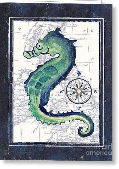 Fin Greeting Cards - Indigo Maritime 2 Greeting Card by Debbie DeWitt
