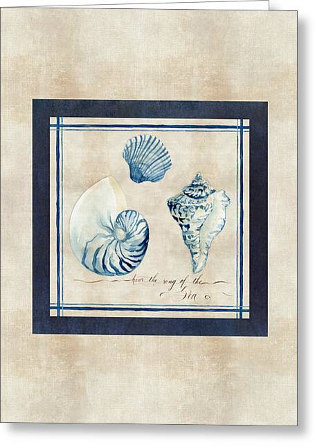 Hear Greeting Cards - Indigo Ocean - Song of the Sea Greeting Card by Audrey Jeanne Roberts