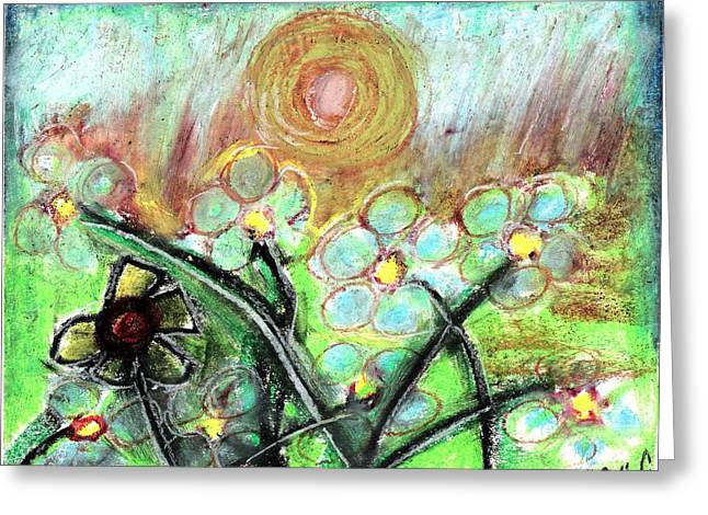 Daisies Pastels Greeting Cards - Individuality  Greeting Card by Levi Glassrock
