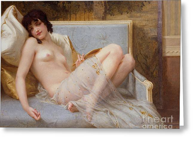 Odalisque Greeting Cards - Indolence Greeting Card by Guillaume Seignac