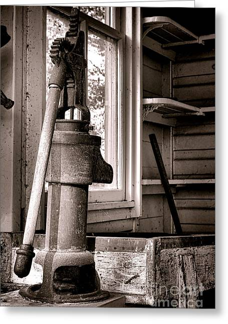 Old Window Greeting Cards - Indoor Plumbing Greeting Card by Olivier Le Queinec