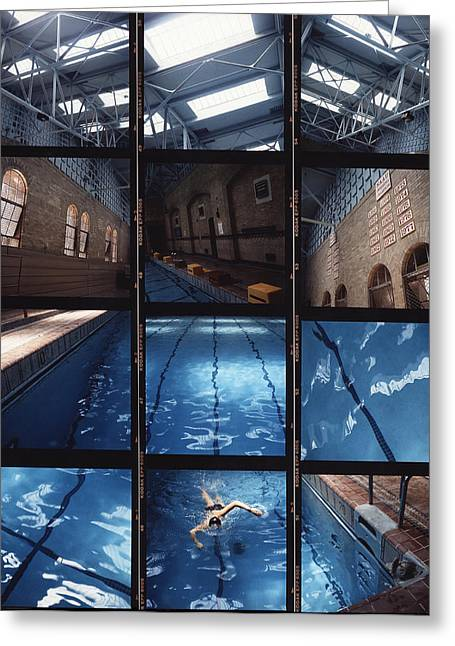 Sports Montage Greeting Cards - Indoor pool Greeting Card by Steve Williams