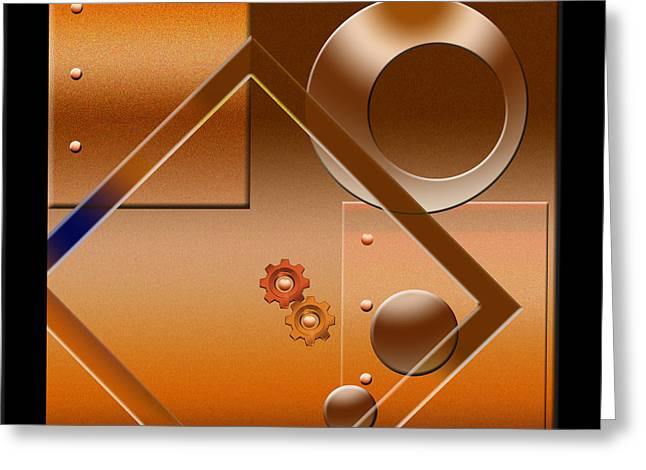 Abstract Shapes Greeting Cards - Industrial 2 Greeting Card by Peter Leech