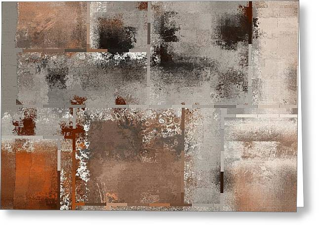 Variation Greeting Cards - Industrial Abstract - 01t02 Greeting Card by Variance Collections