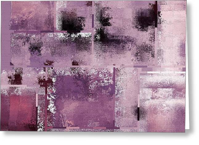 Purple Abstract Greeting Cards - Industrial Abstract - 08t03 Greeting Card by Variance Collections