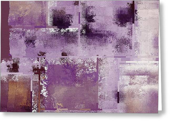 Purple Abstract Greeting Cards - Industrial Abstract - 18t Greeting Card by Variance Collections