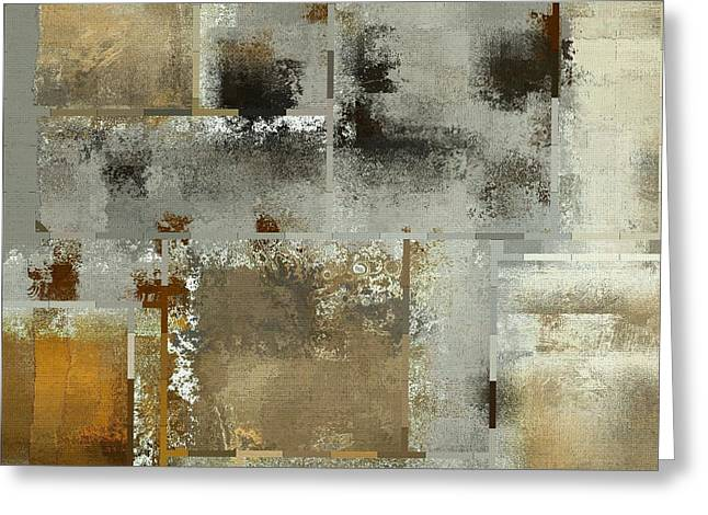 Square Format Greeting Cards - Industrial Abstract - 24t Greeting Card by Variance Collections