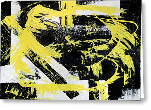 Industrial Abstract Painting I Greeting Card by Christina Rollo