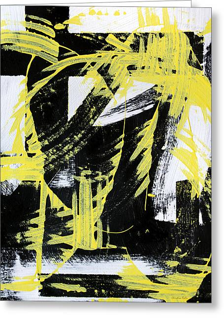 Industrial Abstract Painting II Greeting Card by Christina Rollo