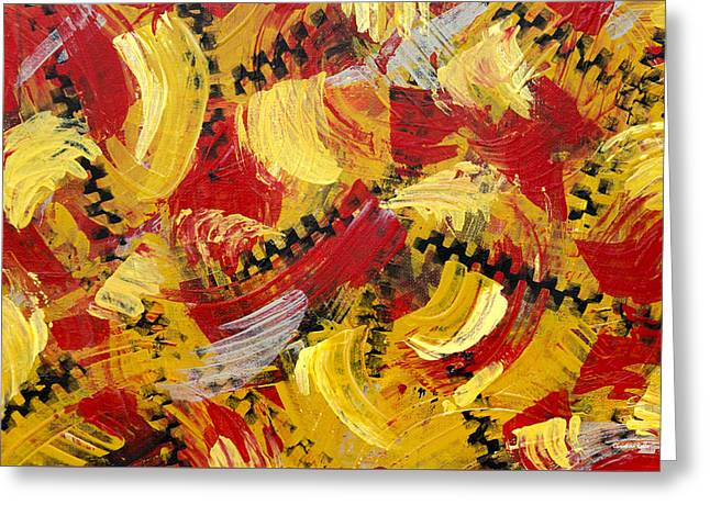 Industrial Abstract Painting IIi Greeting Card by Christina Rollo