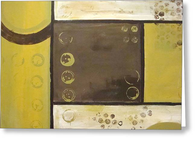Acrylic On Canvas Greeting Cards - Industrial Circles No.2 Greeting Card by Steven R Plout