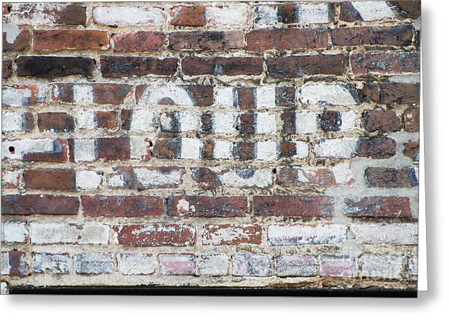 Award Mixed Media Greeting Cards - Industrial Flour Sign on Brick Wall Greeting Card by ArtyZen Studios - ArtyZen Home