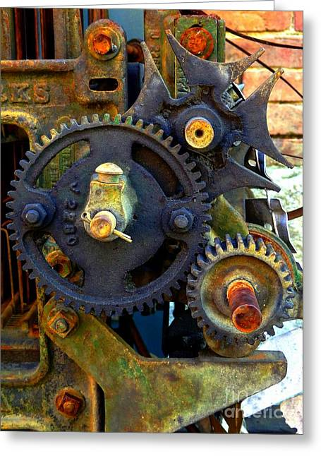 Mechanism Photographs Greeting Cards - Industrial Machinery Greeting Card by Marcia Lee Jones