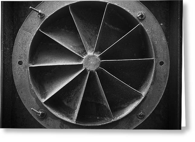 Mining Greeting Cards - Industrial Mining Equipment Black and White Greeting Card by Edward Fielding
