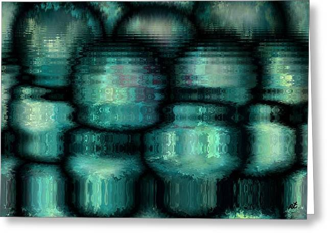 Best Sellers -  - Abstract Digital Drawings Greeting Cards - Industrial view Greeting Card by Rafi Talby