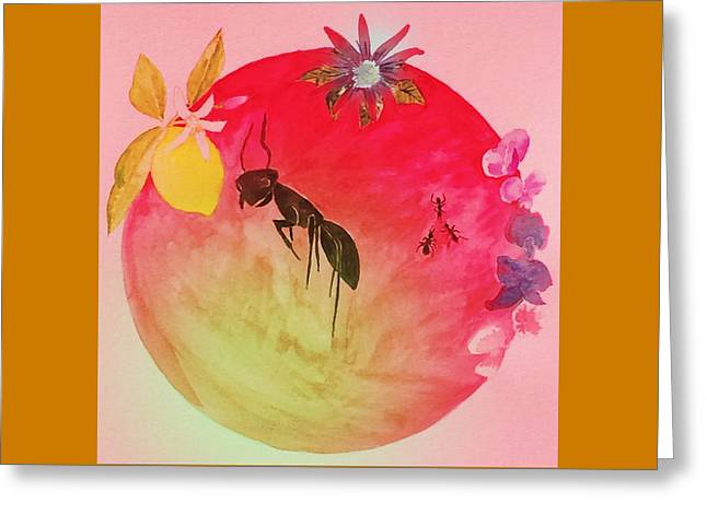 Passionflower Mixed Media Greeting Cards - Industry Greeting Card by Cate deCossy