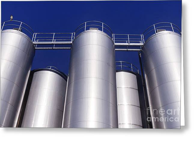 Stainless Steel Greeting Cards - Industry Greeting Card by Colin Woods