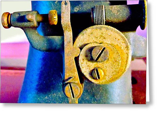 Apparel Greeting Cards - Industry in color Greeting Card by Gwyn Newcombe