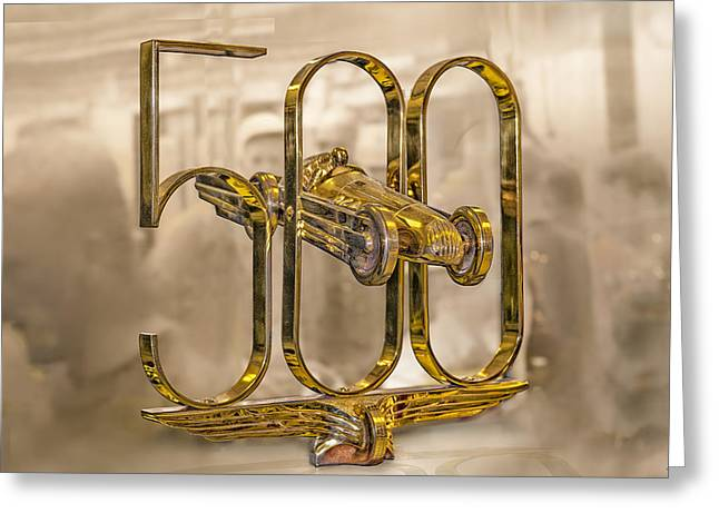 Indy Car Greeting Cards - Indy 500 trophy head Greeting Card by Gary Warnimont