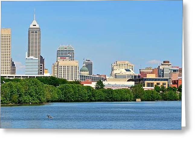 Indy 500 Greeting Cards - Indy Panoramic Greeting Card by Frozen in Time Fine Art Photography