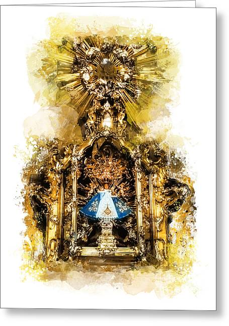 Child Jesus Greeting Cards - Infant Jesus of Prague Greeting Card by Justyna JBJart