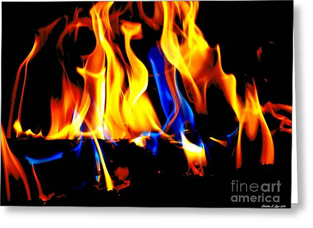 Abstract Movement Greeting Cards - Inferno II Greeting Card by Christine Zipps