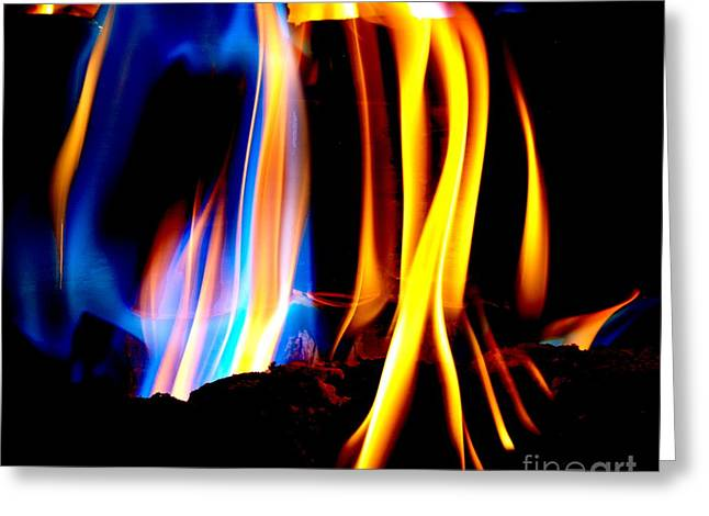 Modern Photographs Greeting Cards - Inferno XVIII Greeting Card by Christine S Zipps