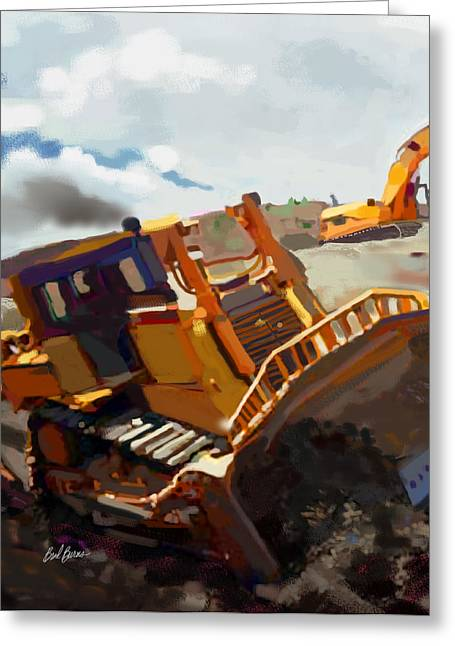 Trenches Paintings Greeting Cards - Infineon Raceway Greeting Card by Brad Burns