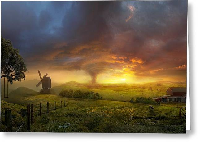 Storming Greeting Cards - Infinite Oz Greeting Card by Philip Straub