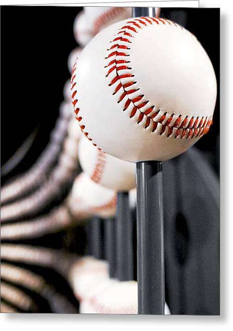 Baseball Art Photographs Greeting Cards - Infinity Ball Greeting Card by Greg Fortier