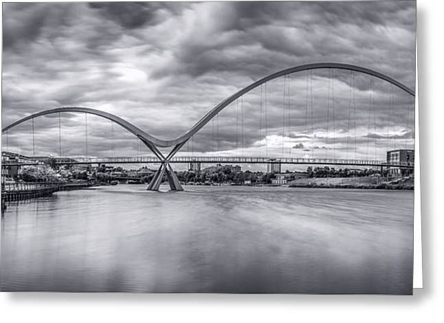 Stockton Greeting Cards - Infinity Bridge Greeting Card by Brian Smith